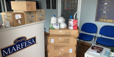 CORONAVIRUS | El Grupo Marfesa-Hielos La Confianza dona a Talavera 4.600 mascarillas, 3.000 guantes y 200 batas