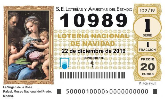Este es el segundo premio de la Lotería de Navidad: 10.989