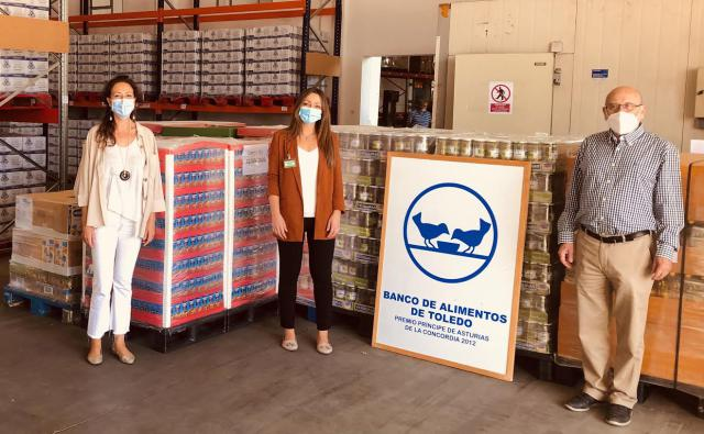 El Banco de Alimentos de Toledo recibe una entrega de Mercadona