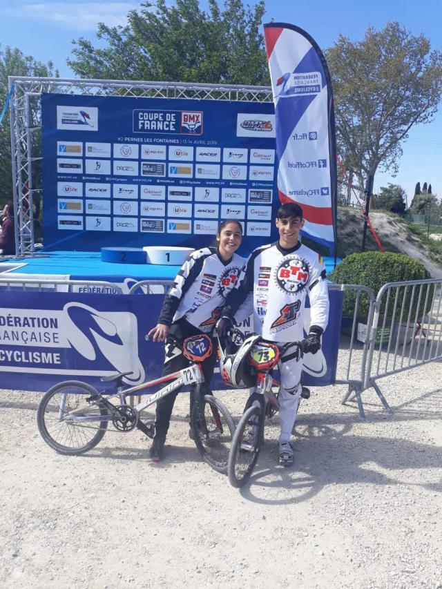 Los hermanos Gómez García del BTM Racing participaron en la Copa de Francia