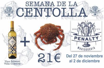 La Semana de la Centolla en 'El Penalty' por 21 euros