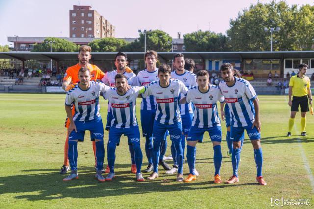 EL CF Talavera que se midió al Melilla esta pasada temporada