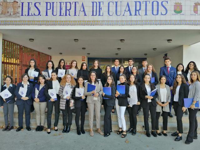 Alumnos del IES Puerta de Cuartos participan en una simulación de la ONU