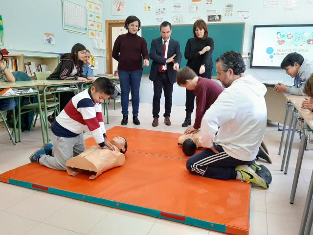 Más de 70 centros educativos de la provincia de Toledo participan en los cursos de 'La Reanimación Cardiopulmonar en las Escuelas'