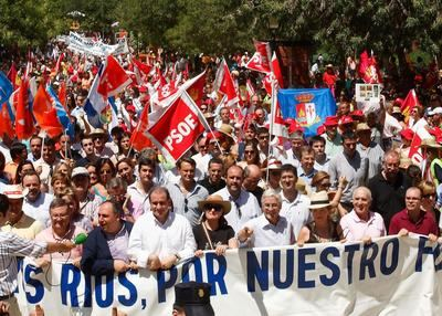 Se cumplen 10 años de la gran manifestación en Talavera contra el Trasvase