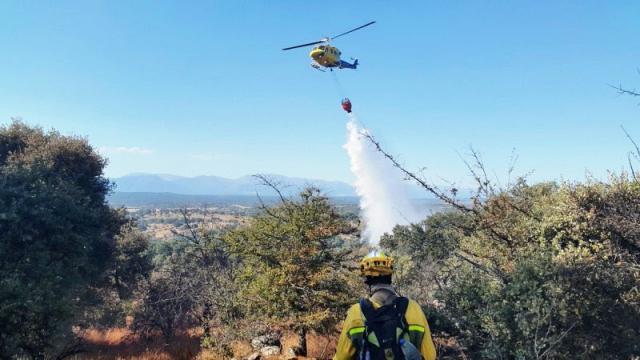 Extinguido el incendio declarado en una zona de bosque de La Puebla