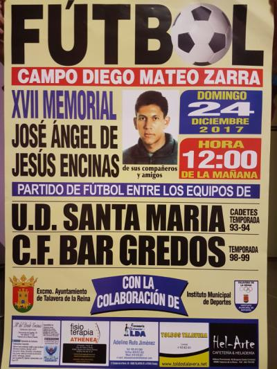 El 24 de diciembre se celebra el XVII Memorial José Ángel de Jesús Encinas