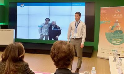 Alberto Cabanes en la presentación de su proyecto al programa 'Lazarus'