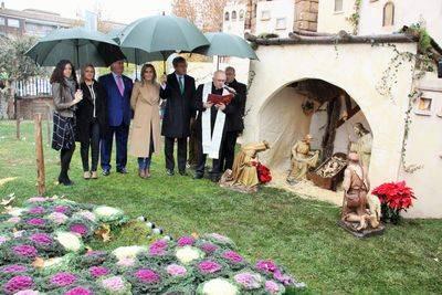 Caja Rural CLM inaugura en Toledo su tradicional Belén con más de 70 animales