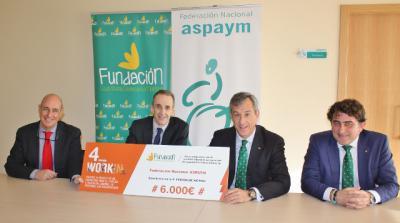 La Fundación Caja Rural CLM entrega una ayuda 'Workin' de 6.000 euros a ASPAYM