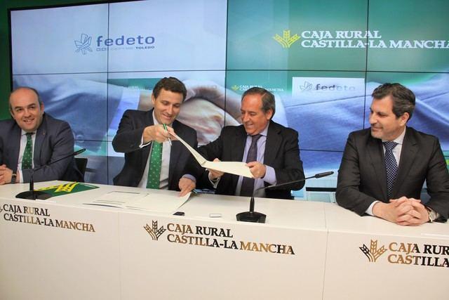 Caja Rural CLM destina 60 millones de euros para los asociados de FEDETO