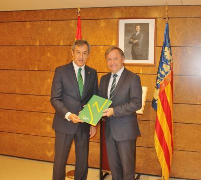 Visita institucional Eurocaja Rural al Delegado del Gobierno en Valencia