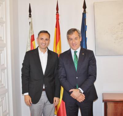 Eurocaja Rural traslada al presidente de la Diputación de Alicante su implicación en la dinamización del territorio