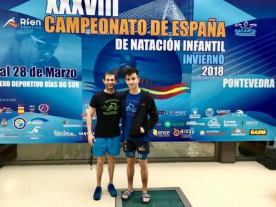 Javier López, del CN Talavera logra el cuarto mejor tiempo de 200 espalda en el Campeonato de España infantil