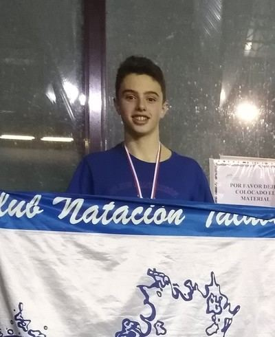 Iván Gómez, del CN Talavera, logró cuatro medallas en el Regional Alevín Somos Deporte 3-16