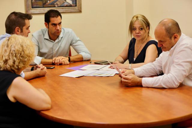 Un momento de la entrevista en el municipio toledano.