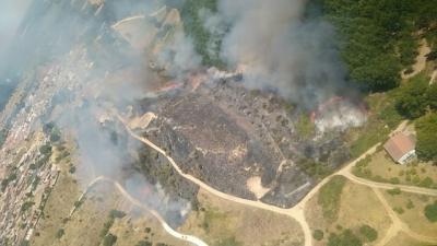 ESCALONA | Extinguido el incendio forestal