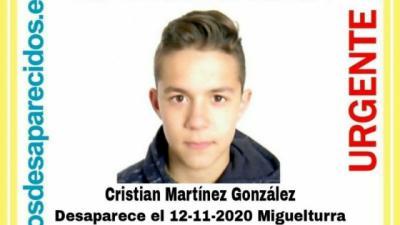 URGENTE | La Policía pide ayuda para encontrar a un menor de 13 años desparecido