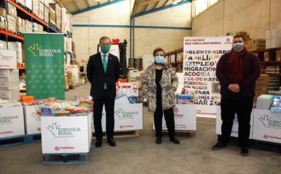 EUROCAJA RURAL | La empresa colabora con Cáritas en su nueva campaña navideña de recogida de alimentos