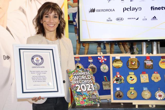 ÚNICA | Sandra Sánchez entra en el Libro Guinness de los Récords