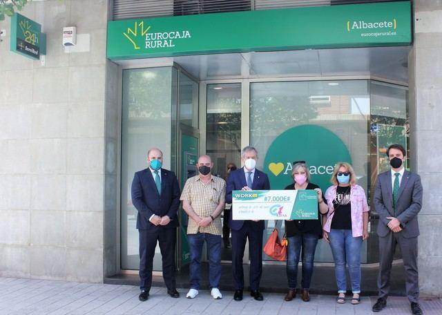Eurocaja Rural reconoce la labor de ASPAS con la entrega de un premio WORKIN