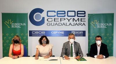 Eurocaja Rural y CEOE-CEPYME Guadalajara suscriben un convenio social para reactivar la economía