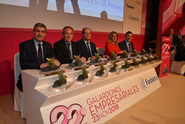 Los XXII premios de Fedeto homenajearon al empresariado y a la Constitución