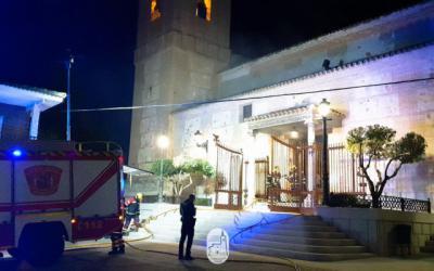 Desolación en Carranque por el incendio de su parroquia