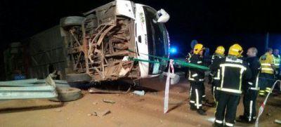 El conductor del autobús volcado en Valdepeñas da negativo en alcohol y otras sustancias
