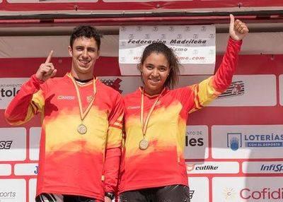 Alberto Ruiz y Daniela Moreno, del Club BMX Talavera, Campeones de España de BMX 2017