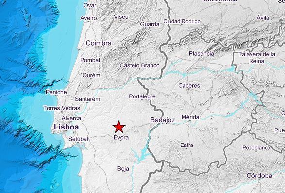 El terremoto de 4,4 grados de la localidad portuguesa de Arraiolos se siente en Extremadura