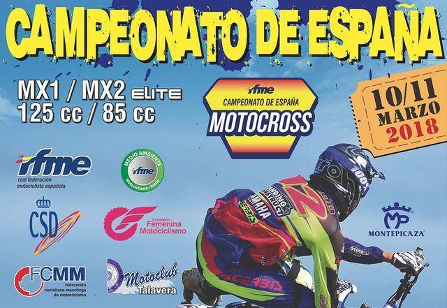 El Campeonato de España de Motocross reunirá en Talavera a más de 160 pilotos