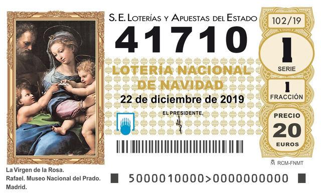 El 41710, cuarto premio de la Lotería de Navidad 2019