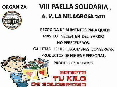 La AAVV 'La Milagrosa-2011' organiza en Talavera su VIII Paella Solidaria
