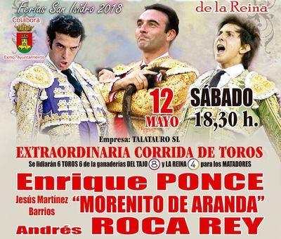 SAN ISIDRO   Ponce, Roca Rey y Morenito de Aranda, cartel para el 12 de mayo