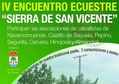 Los mejores caballistas se darán cita en el 'IV Encuentro Ecuestre Sierra de San Vicente'