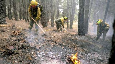 Diez medios y 46 personas participan en la extinción de un incendio declarado en Yeste