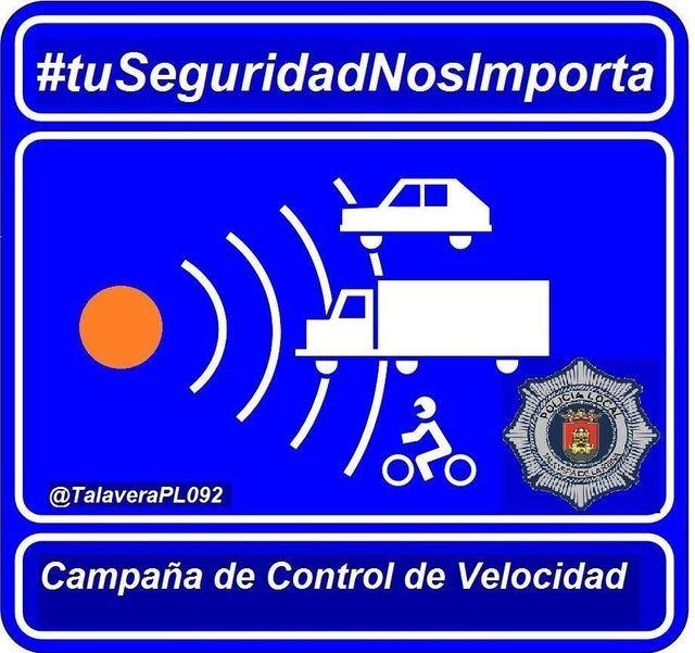La Campaña de control de velocidad en Talavera se salda con 20 sanciones