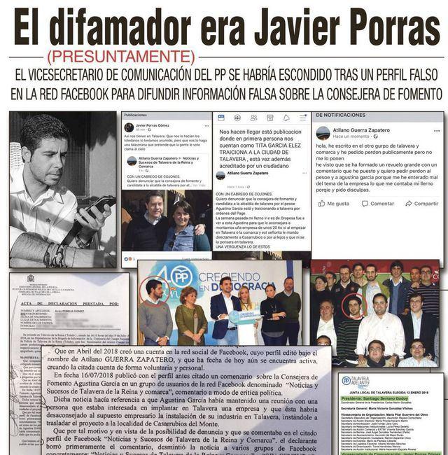 El difamador era, presuntamente, Javier Porras