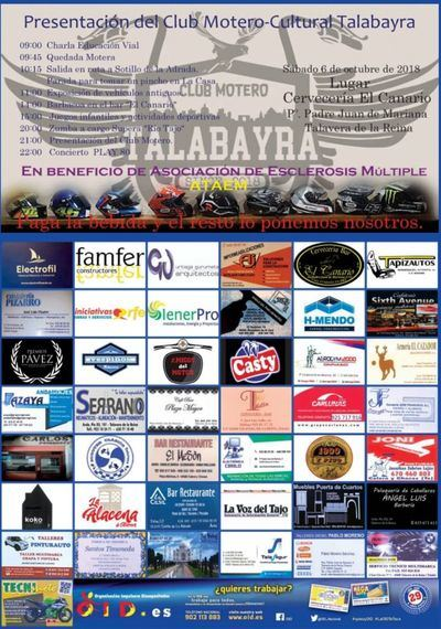 Talavera dará la bienvenida al nuevo Club Motero-Cultural Talabayra