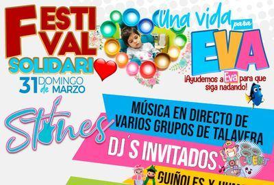 'Stones' organiza 'Una vida para Eva', un festival solidario para ayudar a la niña talaverana