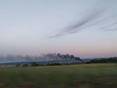 Una columna de humo surca el cielo talaverano desde Patrocinio