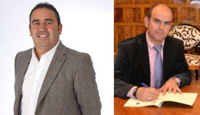 'Cito' Gil Resino, alcalde de Pepino (i) y José Ángel Yeles, alaclde de Los Navalucillos (d)