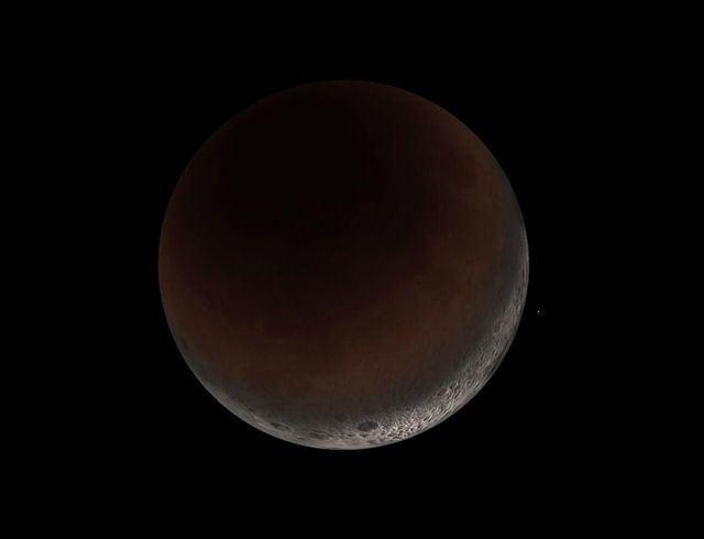 El eclipse de luna parcial será visible este martes