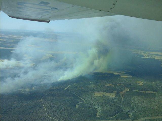 Incendio Barchín del Hoyo / Foto: PLAN INFOCAM