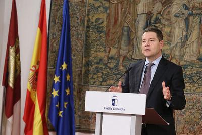 García-Page defiende el Plan de Infraestructuras Sociales como una aplicación justa de los derechos vinculados a la Constitución Española