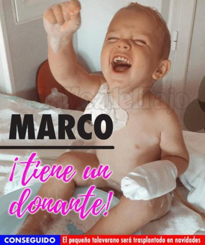 BUENA NOTICIA | Hallan un donante para Marco, el pequeño talaverano con leucemia