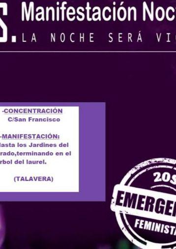 """Manifestación en Talavera ante """"el estado de emergencia feminista"""""""