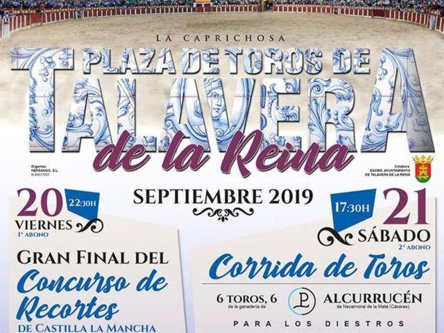 Dos festejos taurinos para las Ferias de San Mateo de Talavera (horarios y entradas)
