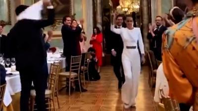 VÍDEO   La boda de un excanterano del Real Madrid incendia las redes